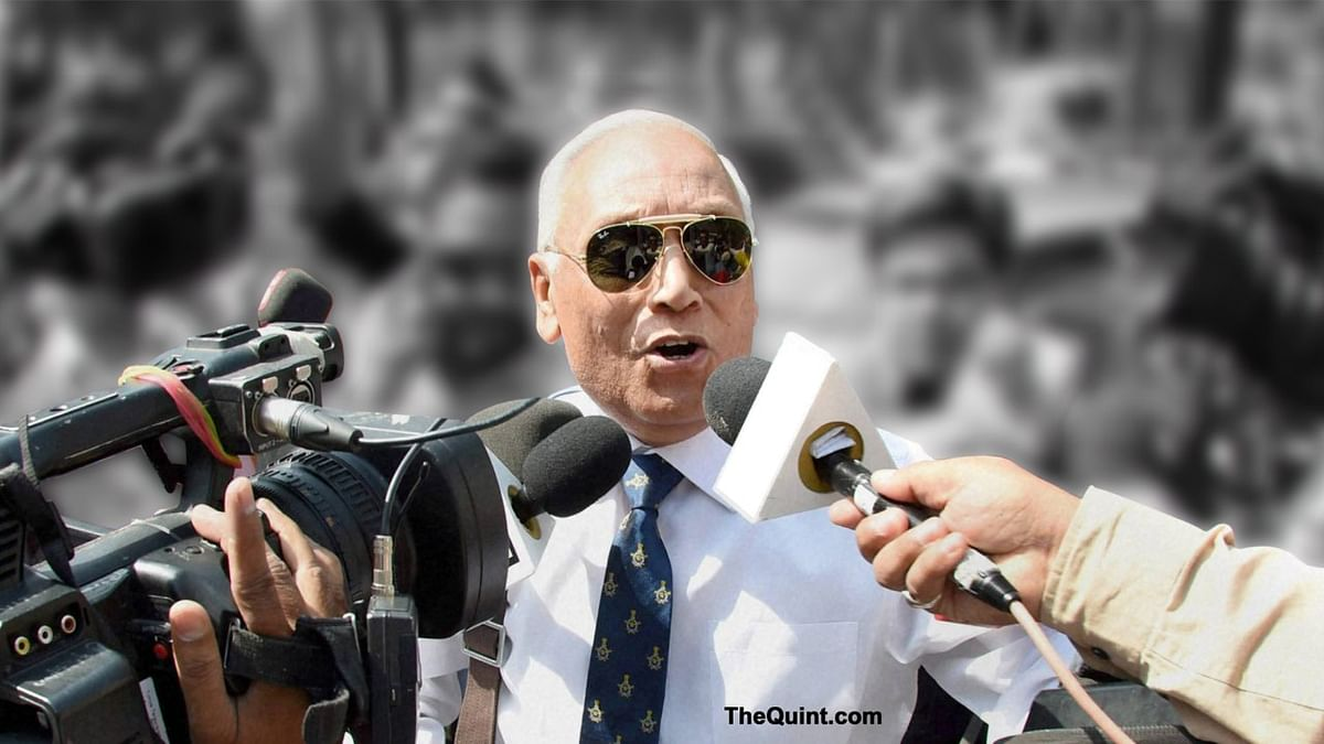 Former Indian Air Force Chief SP Tyagi at the CBI headquarters. (Photo: PTI)