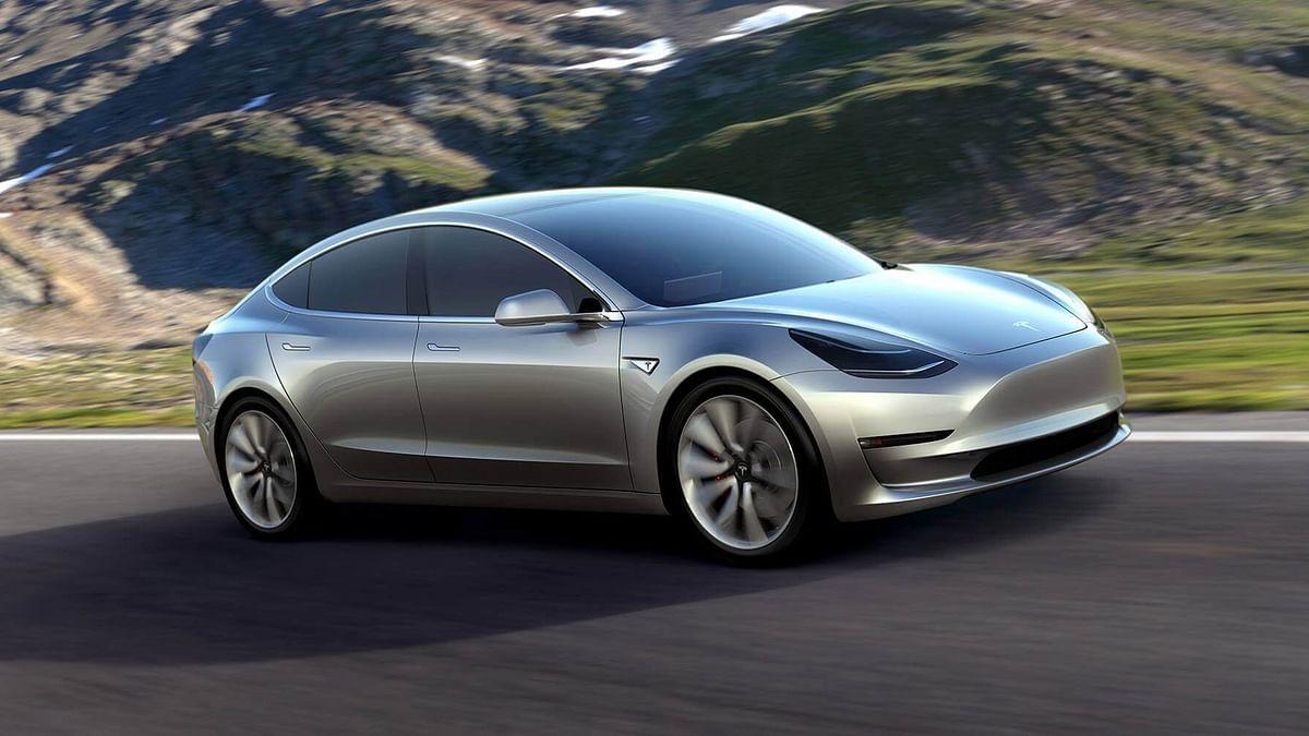 "Tesla Model 3 electric car. (Photo Courtesy: <a href=""https://www.teslamotors.com/model3"">Tesla</a>)"