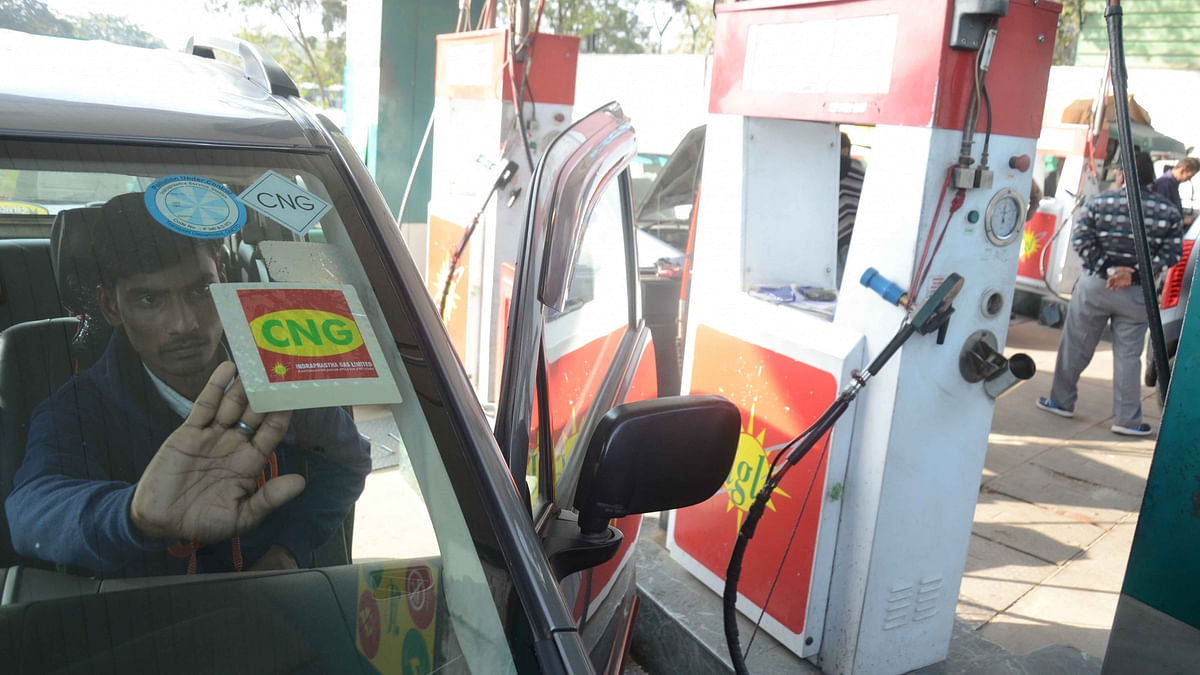The IGL management is confident of adding another 18 CNG fuelling facilities by the end of this month. (Photo: IANS)