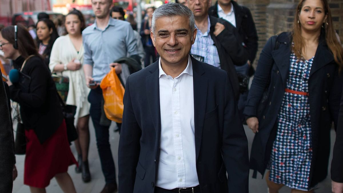 London's new mayor Sadiq Khan has invited Donald Trump to the UK, in a bid to end their bitter feud. (Photo: AP)
