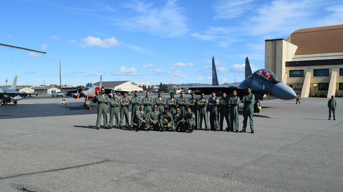 IAF team at Exercise Red Flag in Alaska. (Photo: IANS)