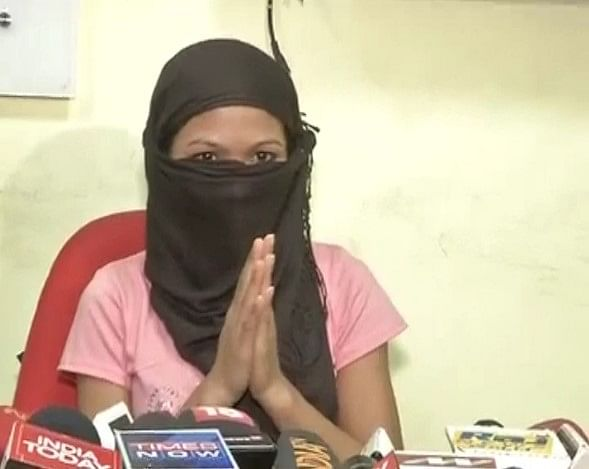 The Manipuri girl who was kidnapped by an unknown assailant. (Photo: ANI)
