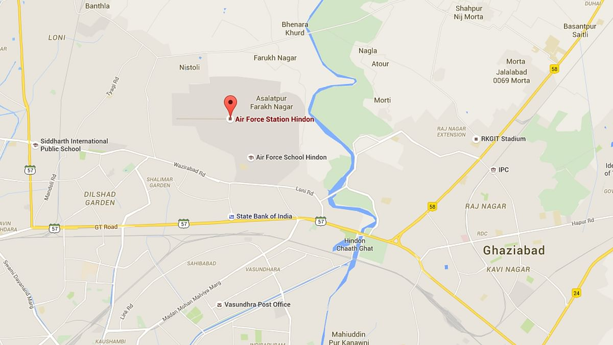 A man was arrested after he allegedly intruded into the high-security Hindon airbase in Ghaziabad. (Photo: Google Maps)