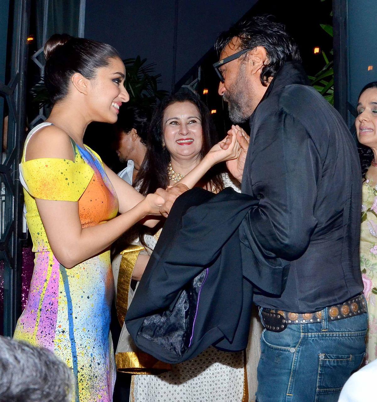 Shraddha Kapoor with Jackie Shroff. (Photo: Yogen Shah)