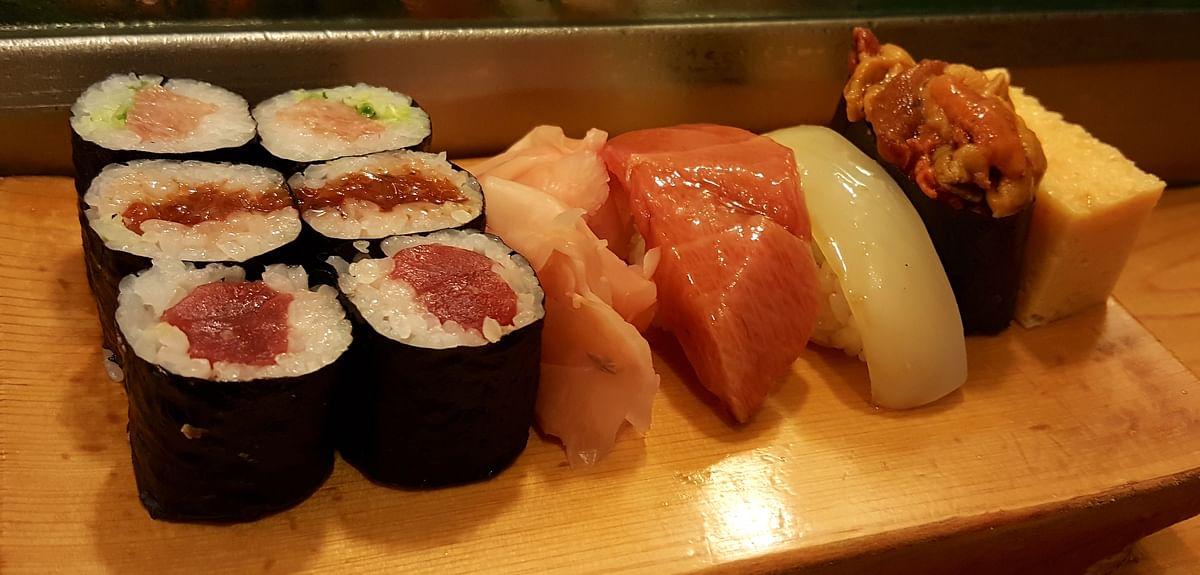 Sushi doesn't get fresher than this; at Daiwa Sushi. (Photo Courtesy: Ashwin Rajagopalan)