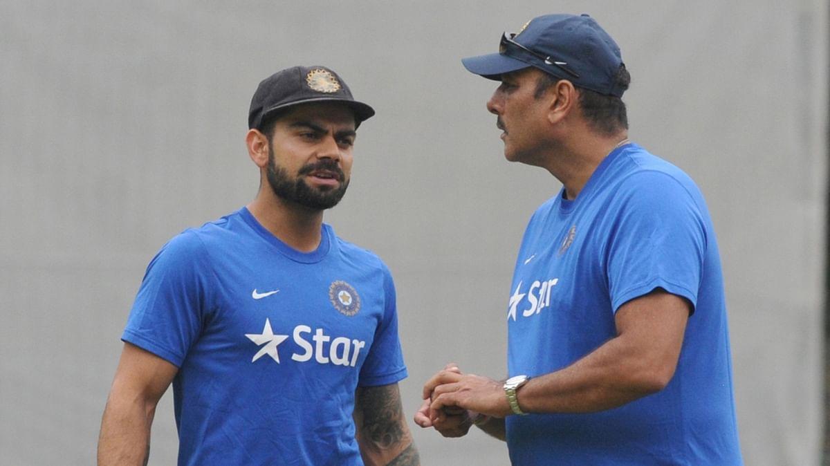 Virat Kohli (L) and Ravi Shastri (R). (Photo: IANS)