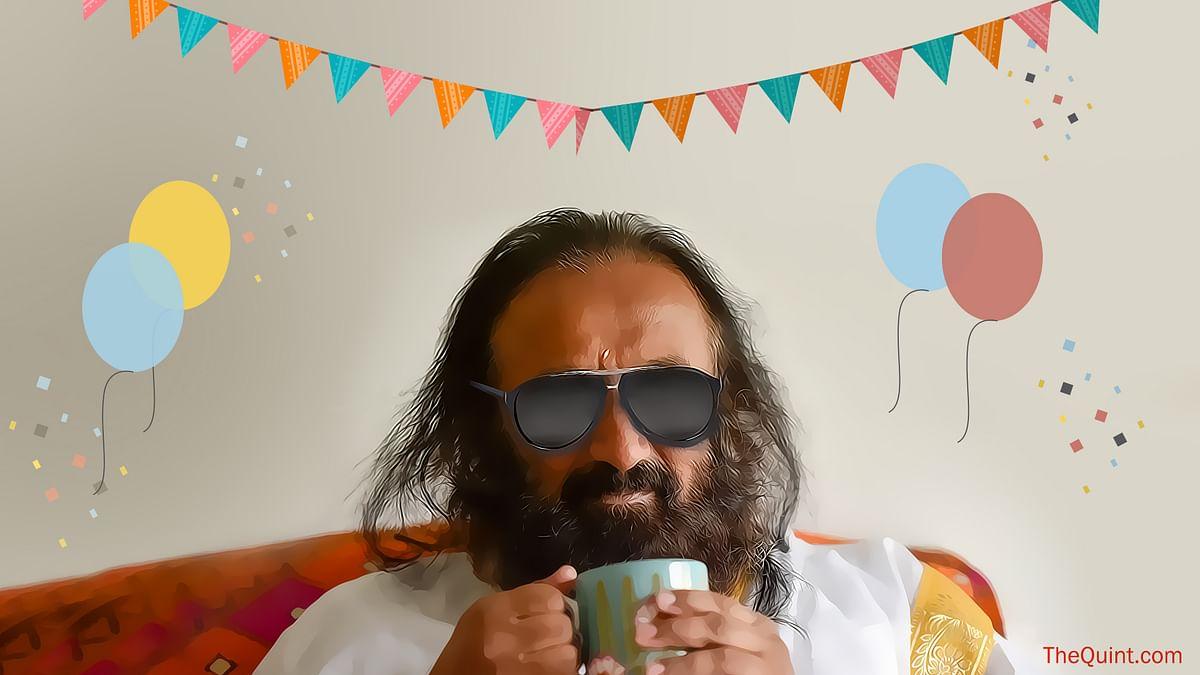 Sri Sri Ravi Shankar celebrates his birthday today. (Photo: Getty Images/Altered by <b>The Quint</b>)