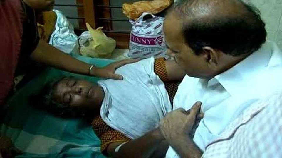 "Jisha's mother, Rajeshwari. (Photo: <a href=""https://www.facebook.com/cpimcc/?fref=photo"">CPIM's Facebook page</a>)"