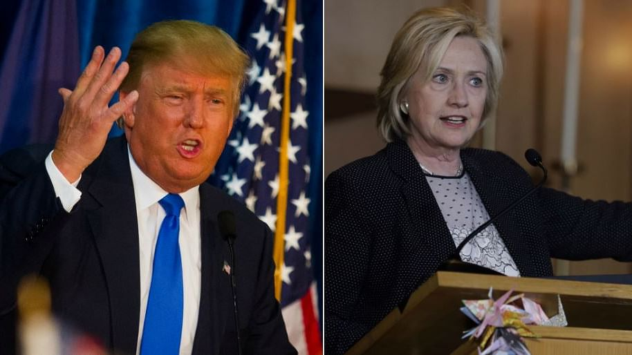 Republican front runner Donald Trump and Democratic front runner Hillary Clinton. (Photo: Reuters/AP/Altered by <b>The Quint</b>)