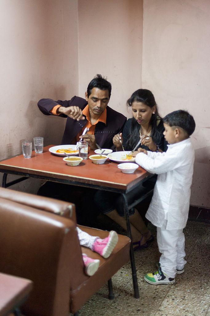 A family dine at the Indian Coffee House, Chandigarh. (Photo: Sent by Stuart Freedman)