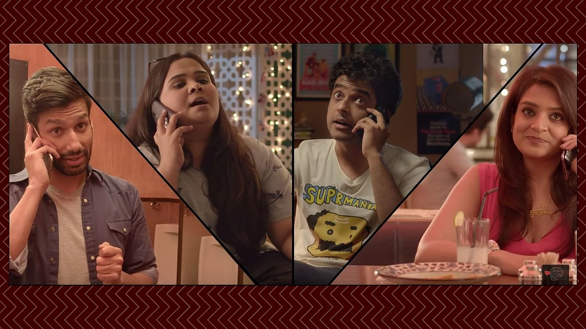 Kanan Gill, Kaneez Surka, Naveen Richard and Sumukhi Suresh show you what really happens when you try to breakup with someone. (Photo Courtesy: Youtube Screengrab)