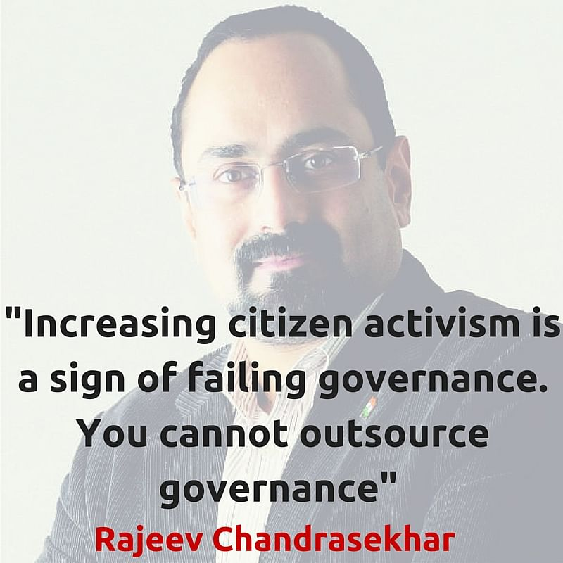 Rajeev Chandrasekhar (Photo Altered by <b>The Quint</b>/Parul Agrawal)