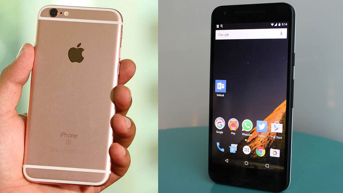 Apple iPhone 6S (left) and LG Nexus 5X (right). (Photo:<b> The Quint</b>)