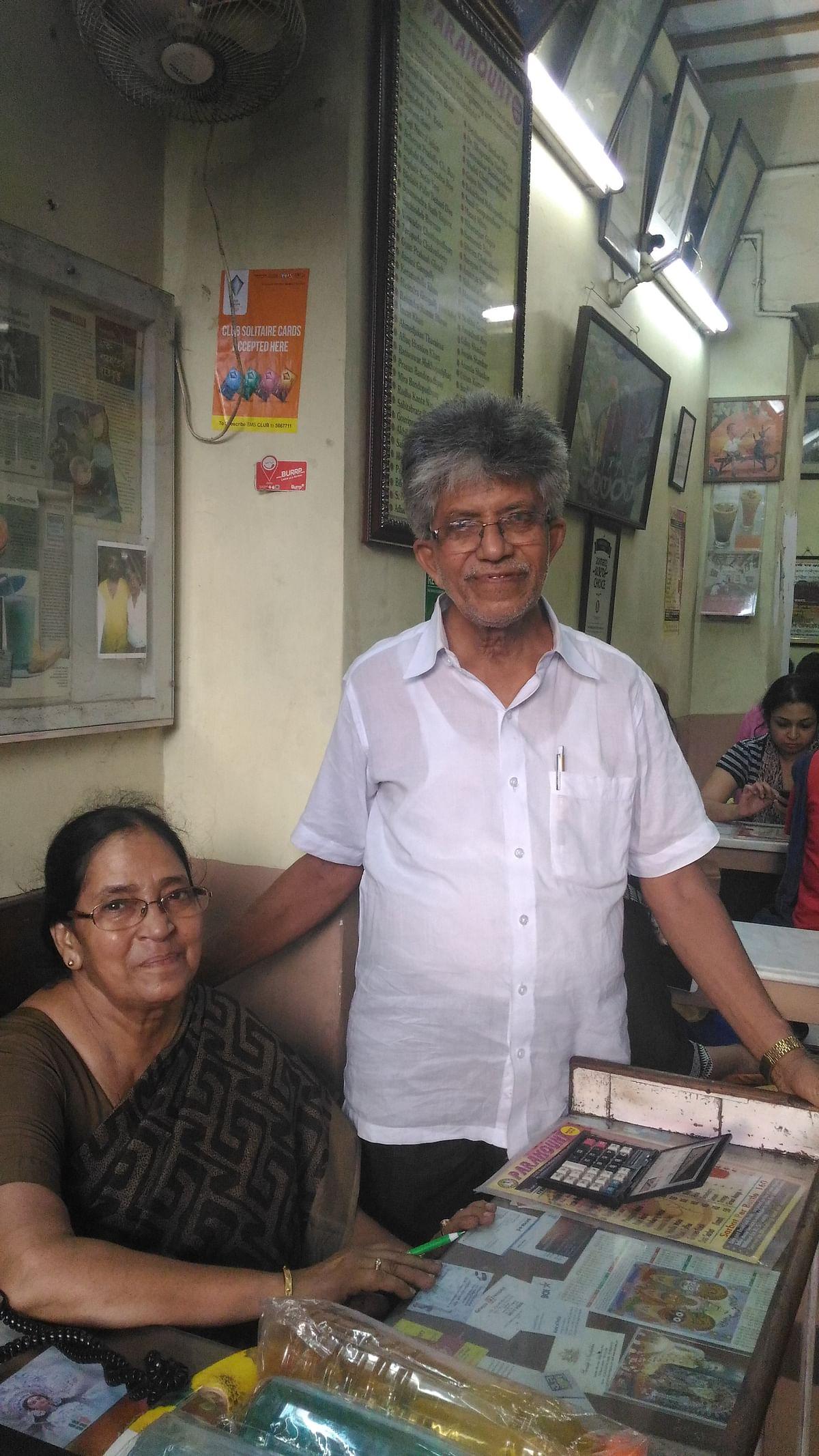 Mrigendra Majumdar and his sister. (Photo: Roshni Sinha)