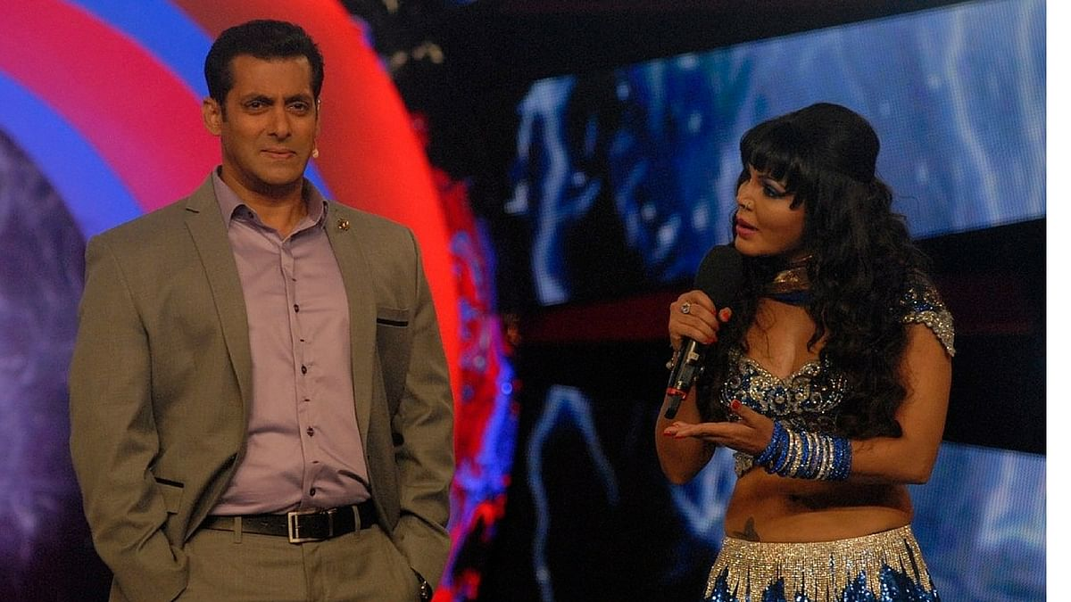 """Rakhi Sawant has ensured she's in the spotlight again - this time by talking about Salman Khan's 'rape' comment (Photo courtesy: Twitter/<a href=""""https://twitter.com/search?f=images&amp;vertical=default&amp;q=rakhi%20sawant%20salman%20khan&amp;src=typd"""">@BOCLive</a>)"""