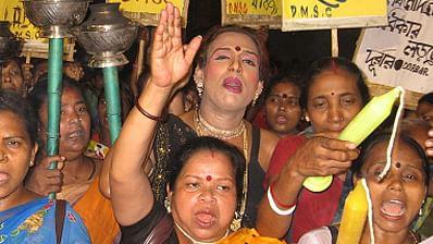 Sex workers at a demonstration in Sonagachi. Photo used for representational purpose. (Photo: Durbar Mahila Samanaya Committee)