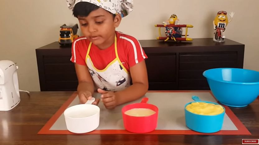 Chef Nihal getting ready to make the ice cream. (Photo; YouTube Screenshot)