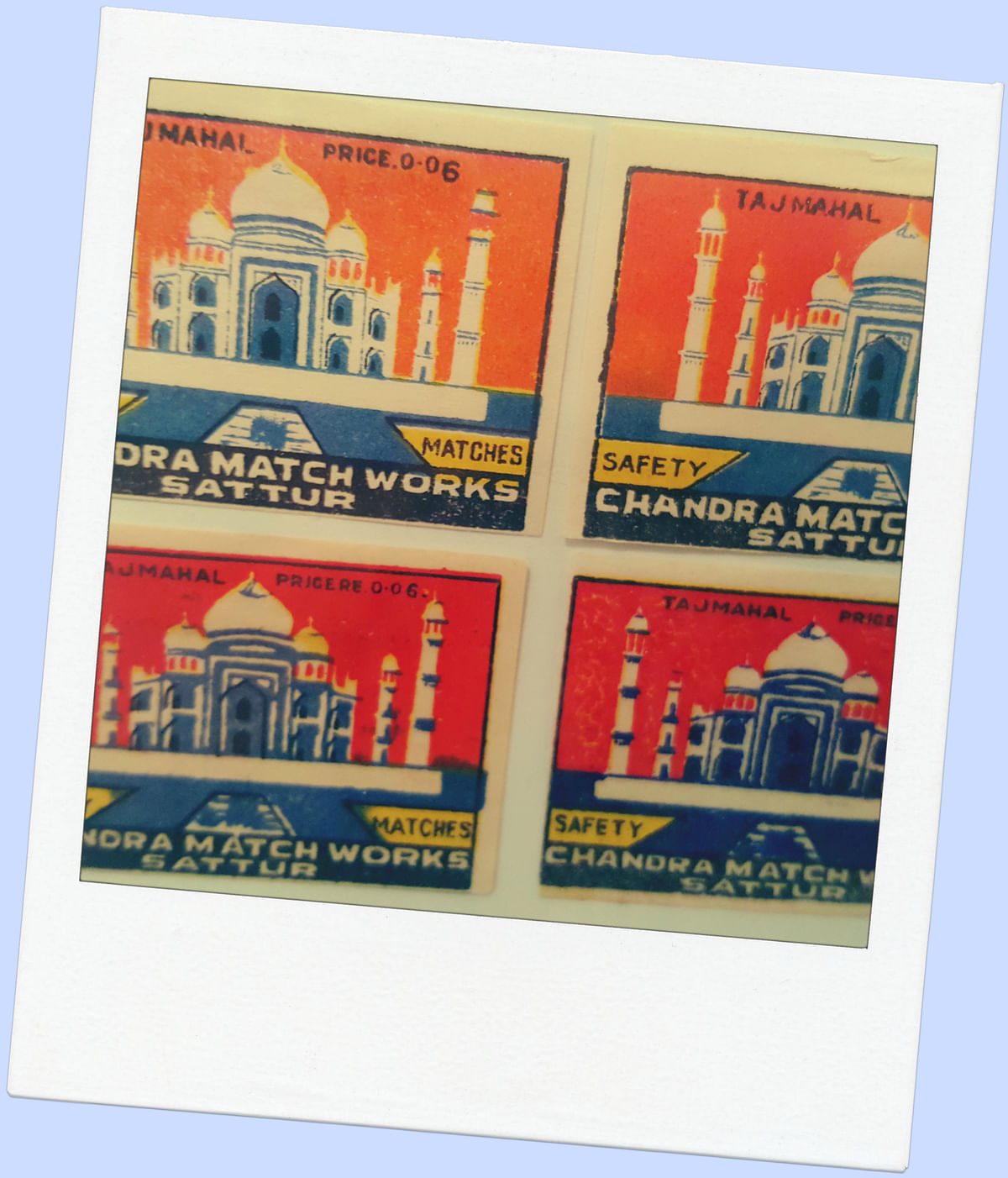 Taj Mahal matchbox covers. (Photo: <b>The Quint</b>)