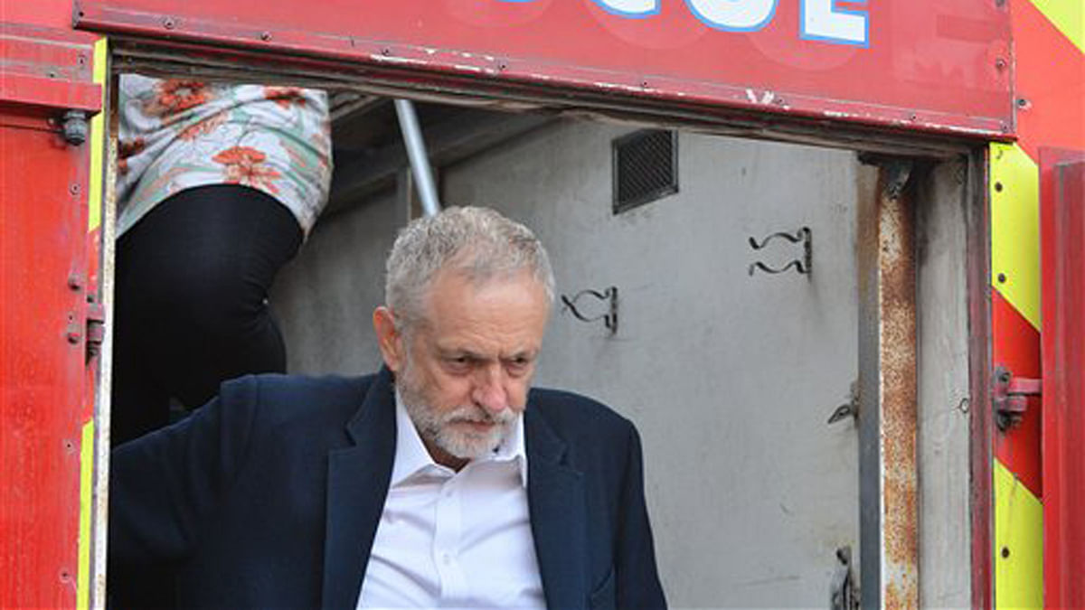 Britain's Labour party leader Jeremy Corbyn is under fire for his comment at the recent launch of the  party's antisemitism report. (Photo: AP