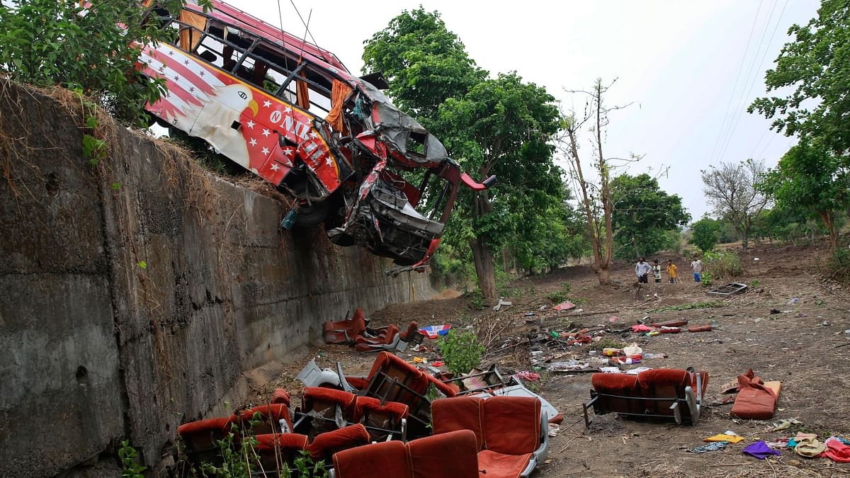 A bus pulled out of a ditch in Mumbai. Image used for representation. (Photo: AP)