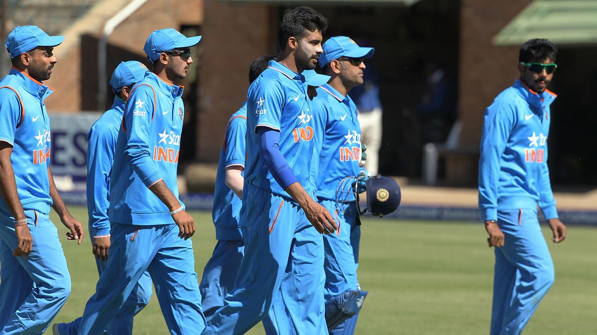 The Indian team successfully defended 138 in the third T20 against Zimbabwe. (Photo: AP)