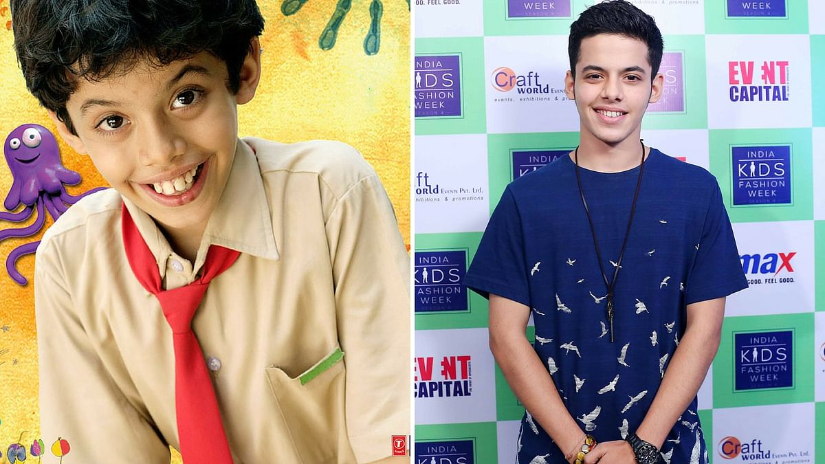 Darsheel Safary in an official poster of <i>Taare Zameen Par</i>  and Darsheel at a fashion event for kids (Photo: Yogen Shah)