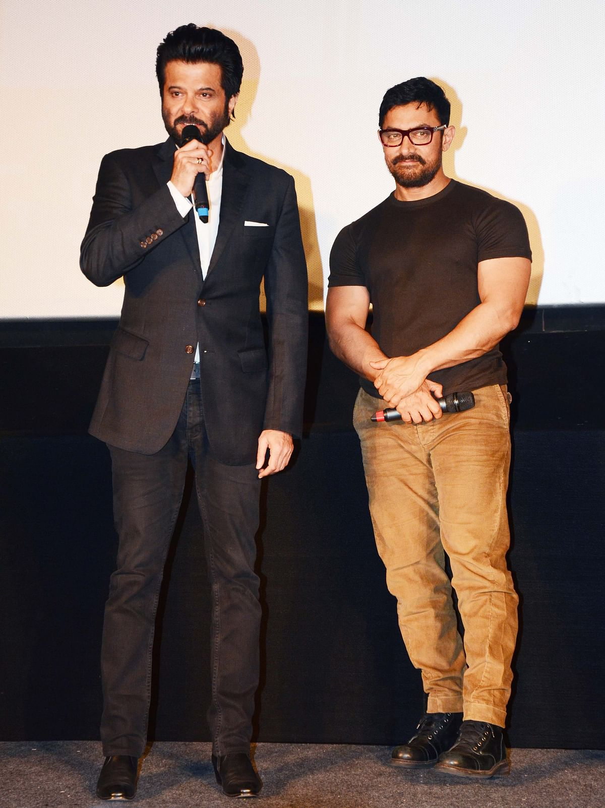 Anil Kapoor and Aamir Khan at the trailer launch(Photo: Yogen Shah)