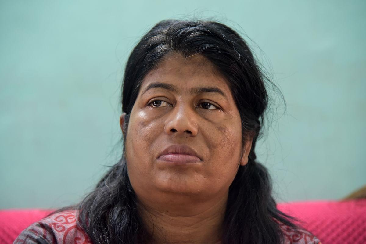 Milan Karmakar's wife. (Photo: Tanmoy Bhaduri)