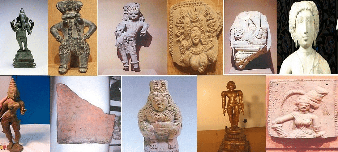 The statues include a bronze Ganesh and a  Jain figure of Bahubali, among other returned cultural artefacts. (Photo: ANI)