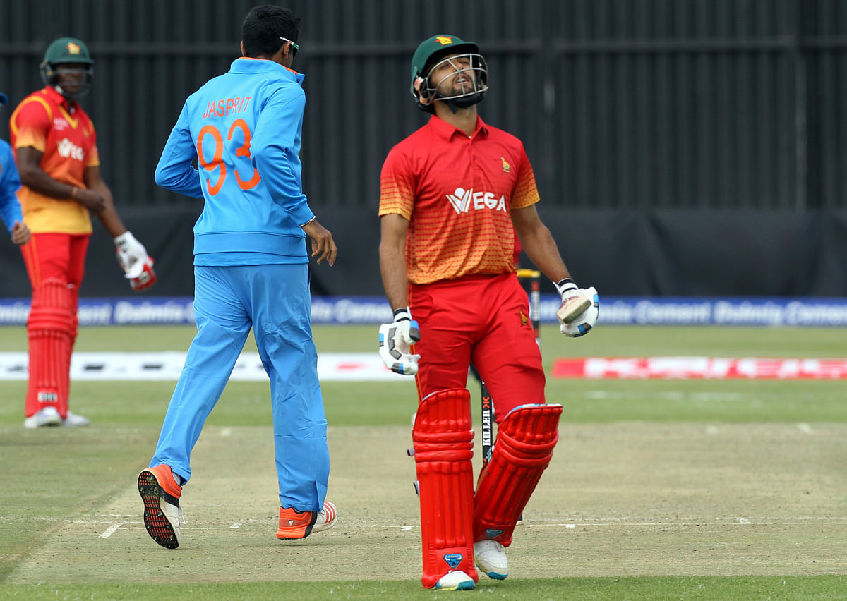Zimbabwe recorded their lowest total in T20s against India in the second T20. (Photo: AP)