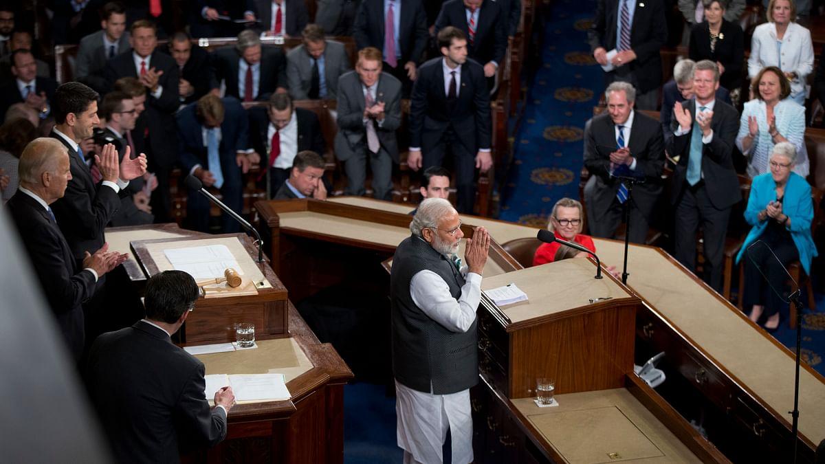 Prime Minister Narendra Modi at Capitol Hill. (Photo: AP)
