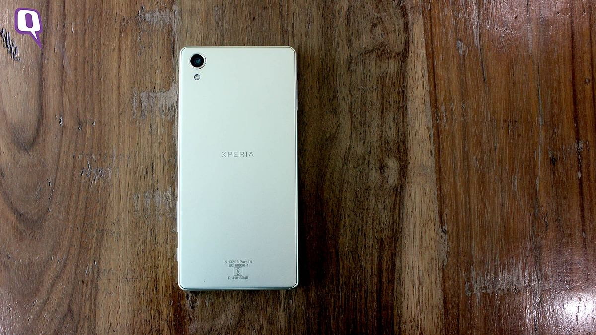 The brushed aluminium look of the Xperia X. (Photo: <b>The Quint</b>)