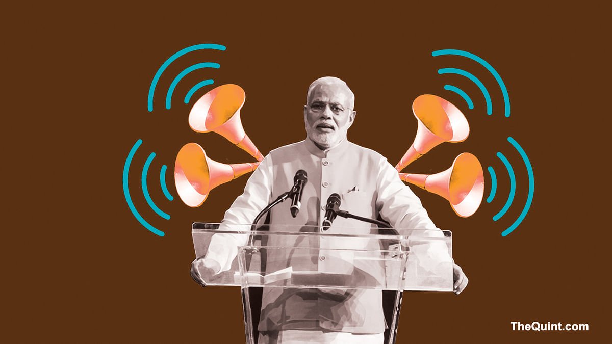 Modi's recent TV interview was akin to prime minister's numerous rallies, where he gloats over the achievements of his government. (Photo: <b>The Quint</b>)