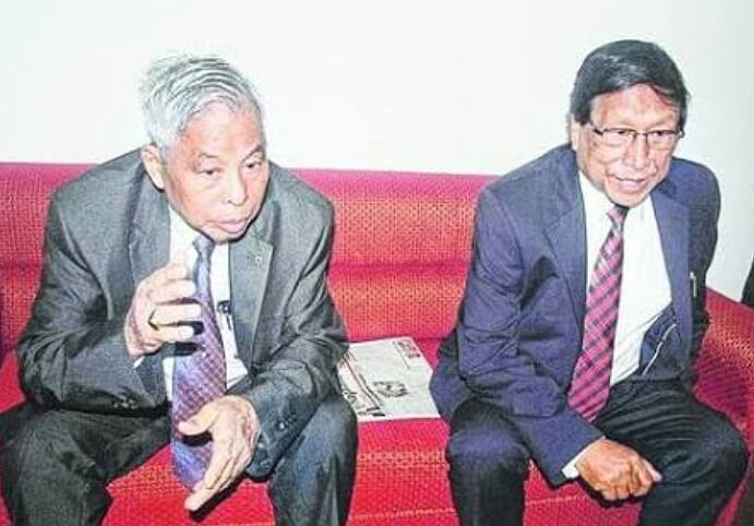 Isak Chisi Swu with Thuingaleng Muivah one of the founding fathers of NSCN-IM (Photo: Maina Dutta)