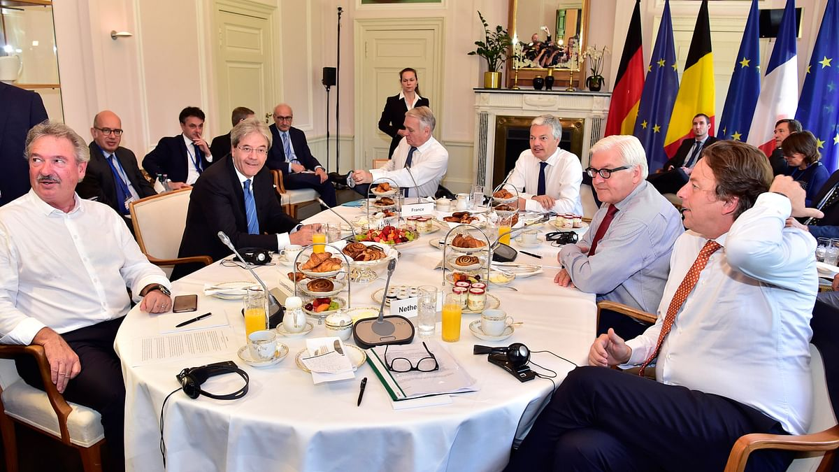 Foreign Ministers of Luxembourg, Italy, France, Belgium, Germany and Netherlands attend talks about the so-called Brexit in Berlin. (Photo: AP)