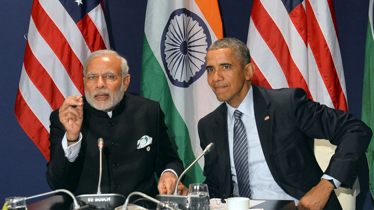 Prime Minister Narendra Modi and President Barack Obama. (Photo: IANS)