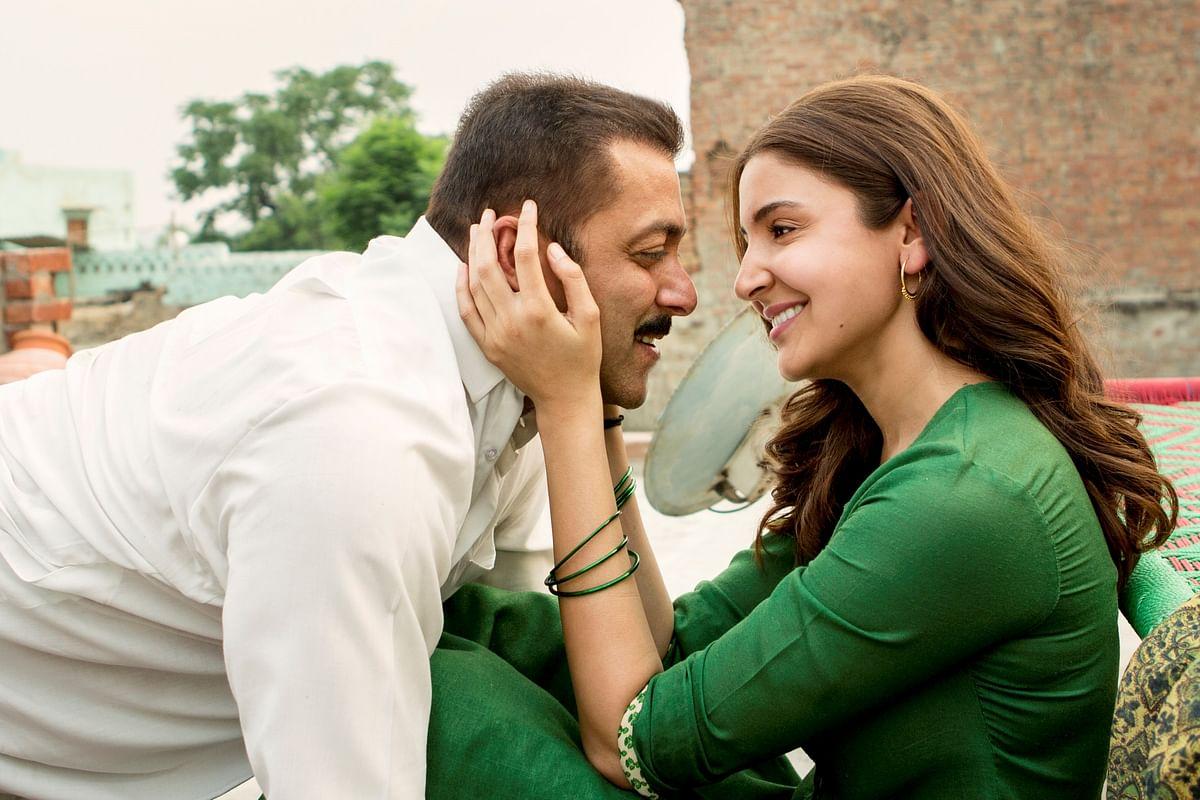 Salman Khan and Anushka Sharma in a still from <i>Sultan </i>