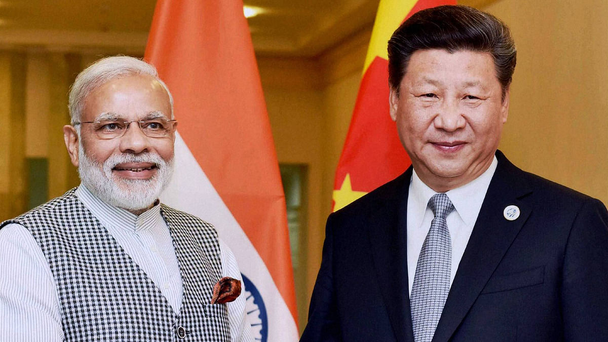 Prime Minister Narendra Modi with Chinese President Xi Jinping.