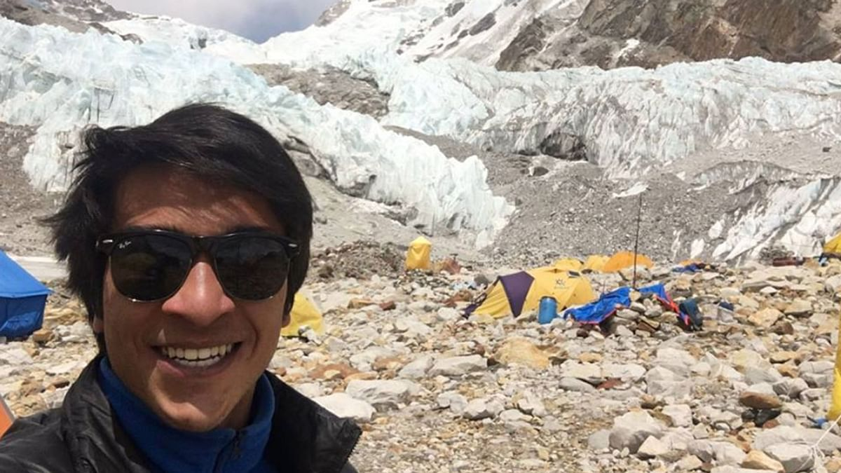 """Arjun Vajpai, 22 year old mountaineer. (Photo Courtesy: <a href=""""https://www.facebook.com/profile.php?id=125721980941557"""">Facebook</a>)"""