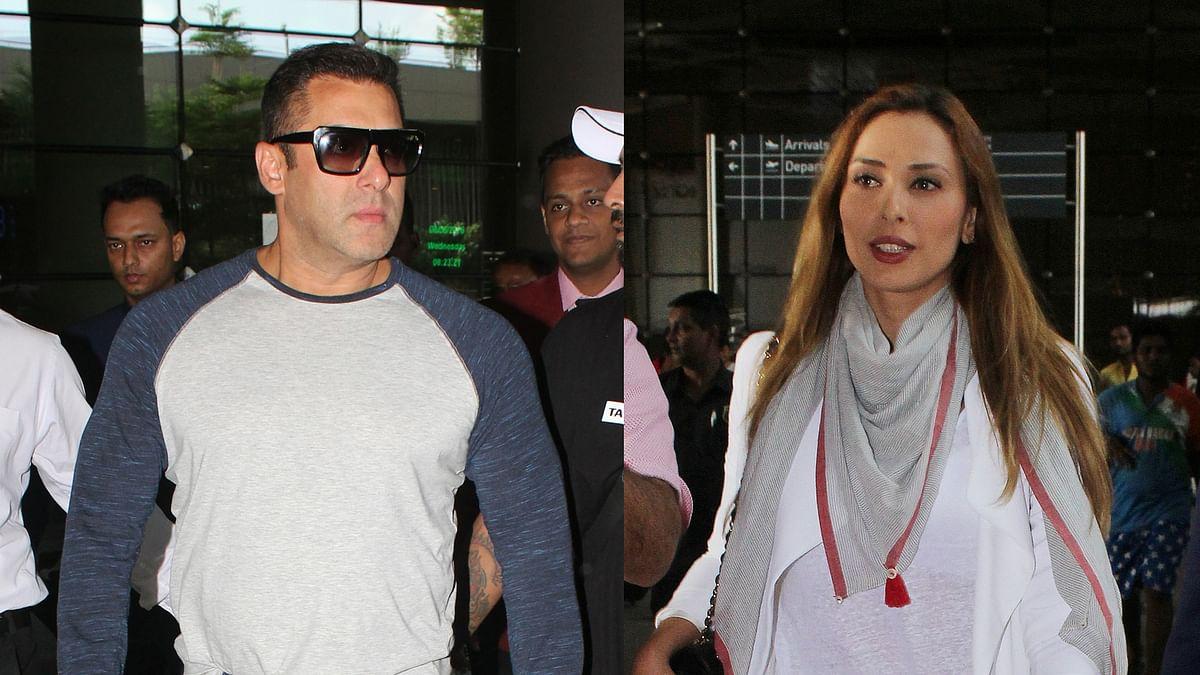 Salman Khan and Iulia Vantur spotted at international airport (Photo: Yogen Shah)