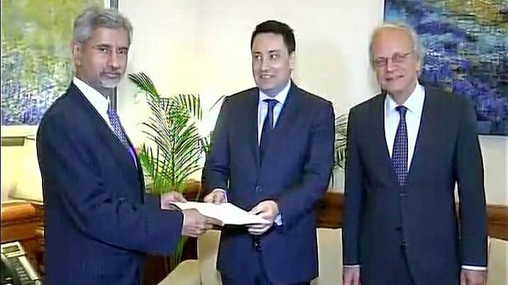 Foreign Secretary S Jaishankar receives MTCR membership papers. (Photo: ANI)