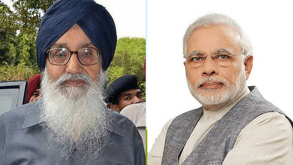Parkash Singh Badal Urges PM Modi to Intervene, Scrap Farm Laws