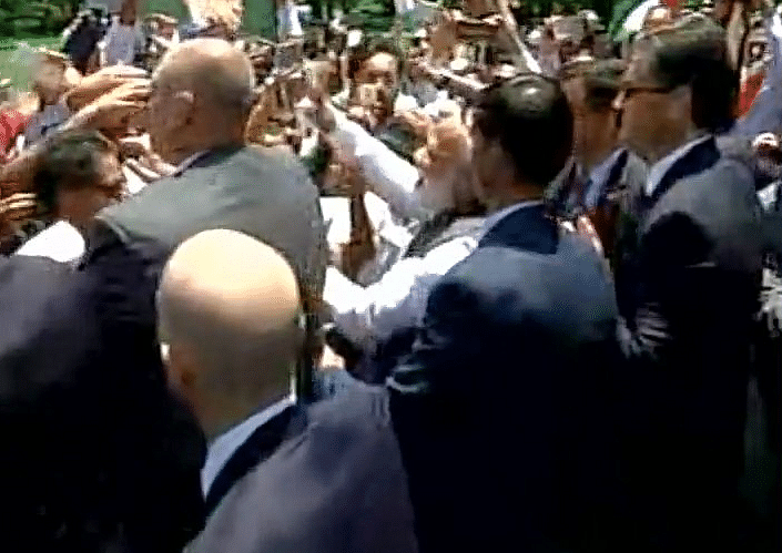 Prime Minister Narendra Modi with members of the Indian community. (Photo: ANI)
