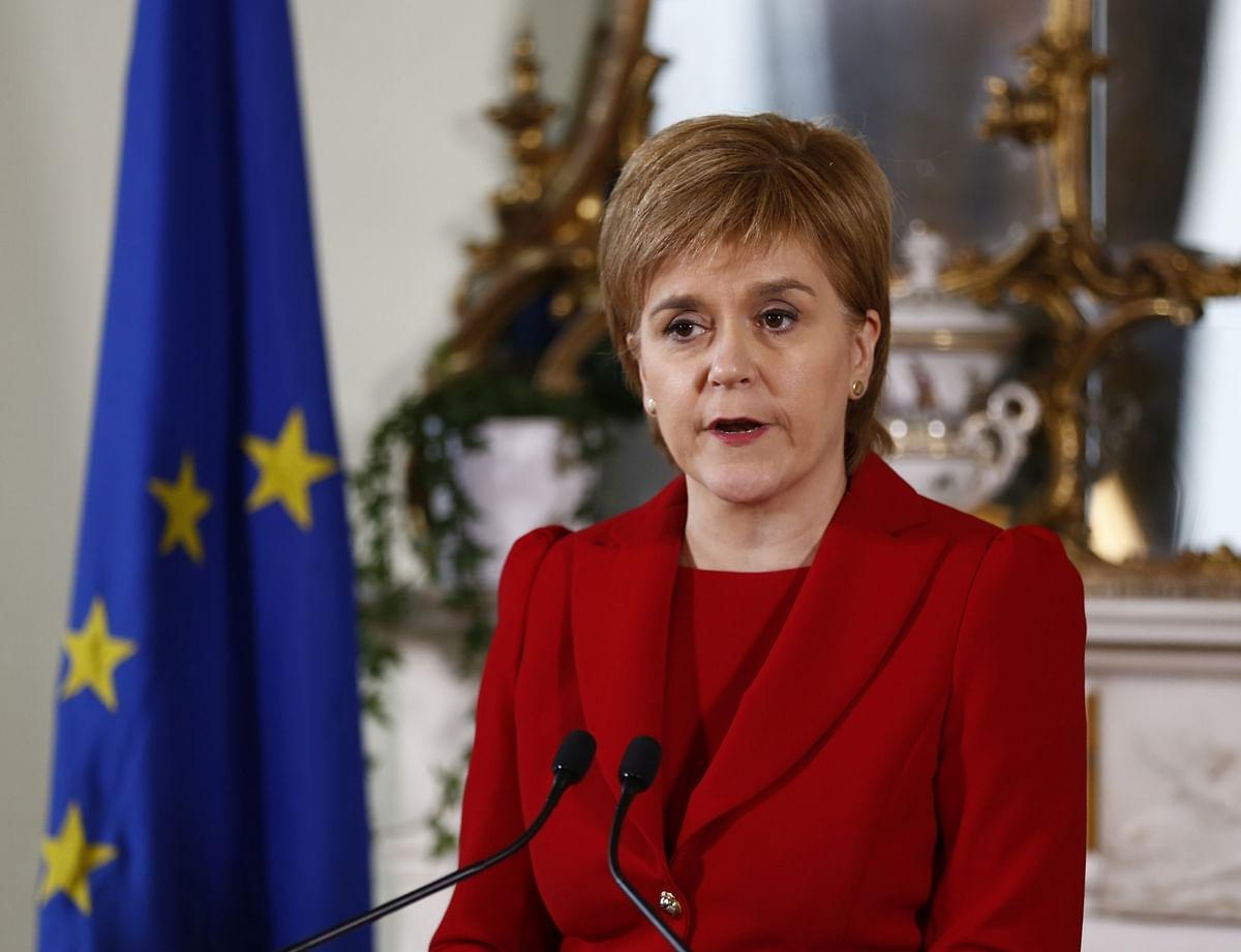 Scottish First Minister Nicola Sturgeon speaks at a press conference in Edinburgh, Scotland, Britain, 24 June 2016. (Photo: IANS)