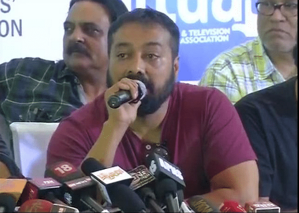 Anurag Kashyap at the press conference (Photo courtesy: Twitter)