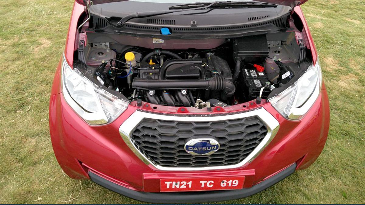 The engine powering the Datsun redi-Go. (Photo Courtesy: MotorScribes)