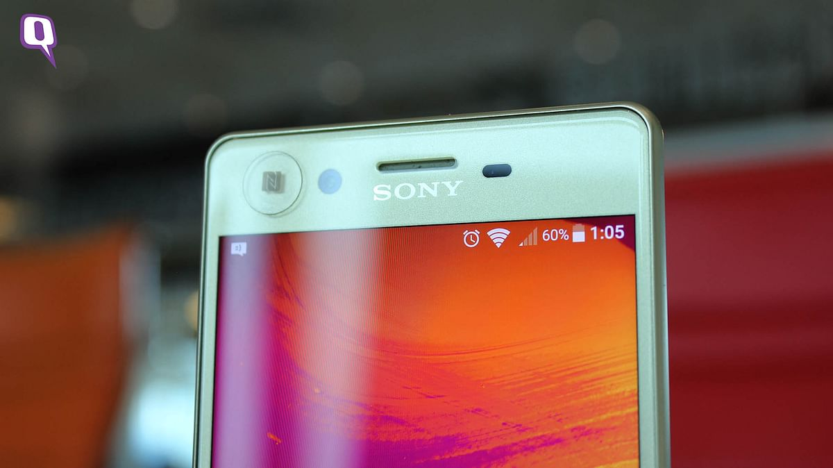Sony Xperia X's front camera. (Photo: <b>The Quint</b>)