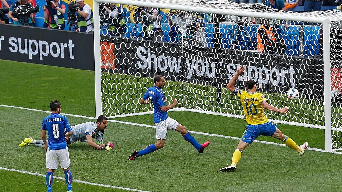Sweden's record scorer with 62 goals, Zlatan Ibrahimovic. (Photo: AP)