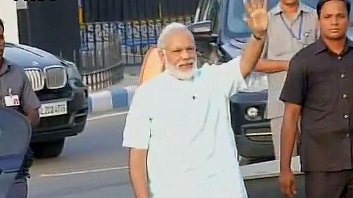 Prime Minister Narendra Modi arrives in Delhi. (Photo: Twitter @ANI_news)