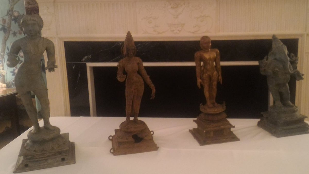 The US returned over 200 cultural artefacts estimated at $100 million to India. (Photo: ANI)
